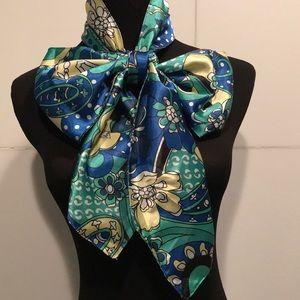 Beautiful Necktie Scarf...Wearable Art🦋